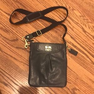 Coach leather black crossbody purse